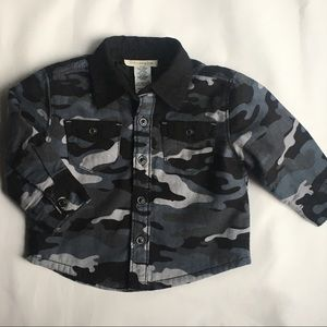 Camouflage shirt size 12 months quilted baby boys